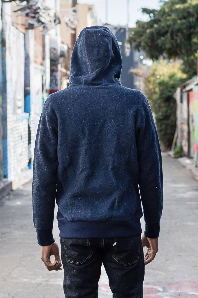 3sixteen Heavyweight Hoodie - Indigo Dyed Zip - Image 7