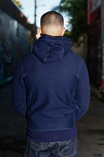 3sixteen Heavyweight Hoodie - Indigo Dyed Zip - Image 1