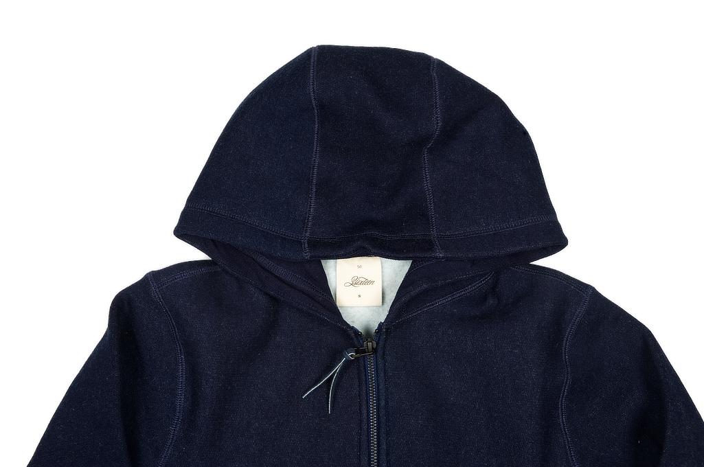 3sixteen Heavyweight Hoodie - Indigo Dyed Zip - Image 3
