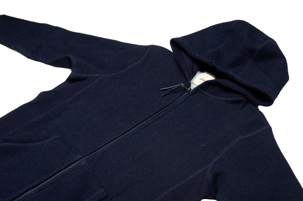 3sixteen Heavyweight Hoodie - Indigo Dyed Zip - Image 4