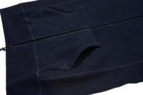 3sixteen Heavyweight Hoodie - Indigo Dyed Zip - Image 5