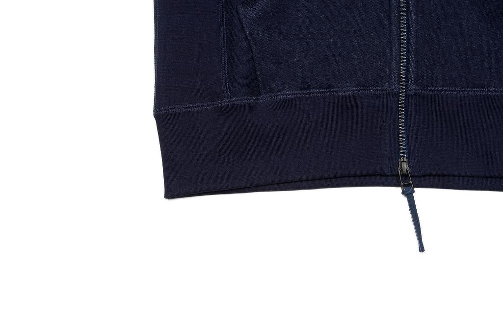 3sixteen Heavyweight Hoodie - Indigo Dyed Zip - Image 12