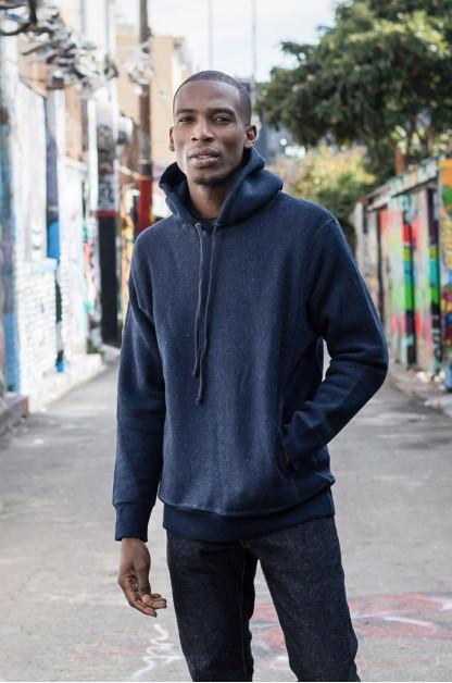 3sixteen Heavyweight Hoodie - Indigo-Dyed Pullover