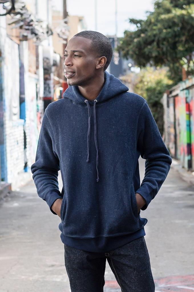 3sixteen Heavyweight Hoodie - Indigo-Dyed Pullover - Image 2