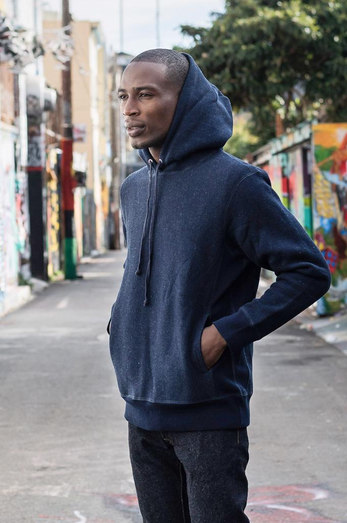3sixteen Heavyweight Hoodie - Indigo-Dyed Pullover - Image 4
