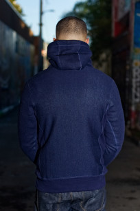 3sixteen Heavyweight Hoodie - Indigo-Dyed Pullover - Image 1