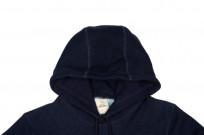 3sixteen Heavyweight Hoodie - Indigo-Dyed Pullover - Image 3