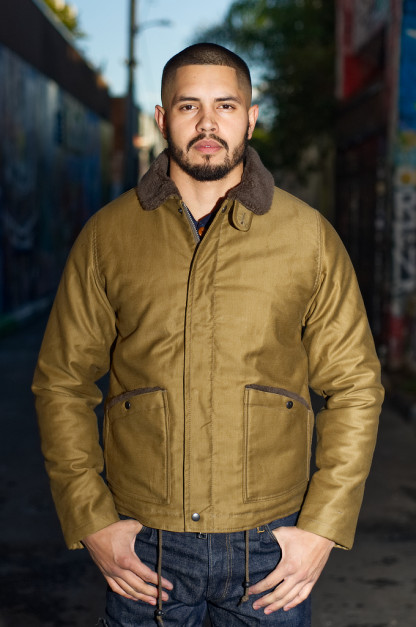 Iron Heart Whipcord B-2 Type Jacket - Khaki