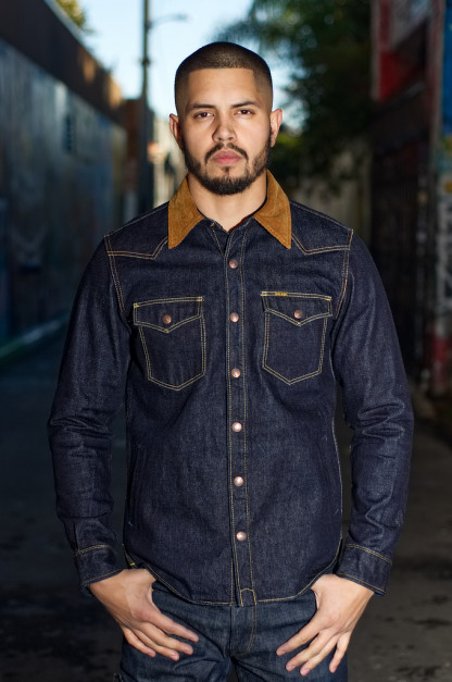 5000cf0b1ca Iron Heart 14oz Selvedge CPO Shirt With Cord Collars