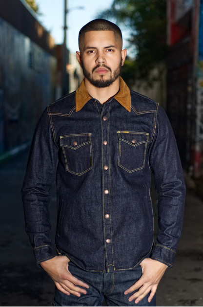 Iron Heart 14oz Selvedge CPO Shirt With Cord Collars