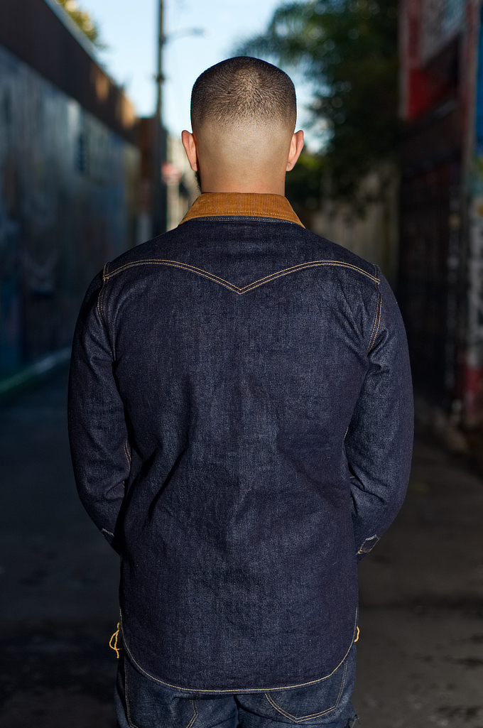 Iron Heart 14oz Selvedge CPO Shirt With Cord Collars - Image 1