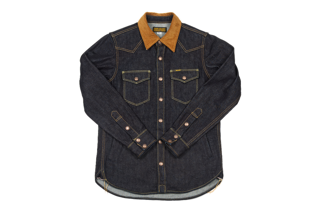 Iron Heart 14oz Selvedge CPO Shirt With Cord Collars - Image 2