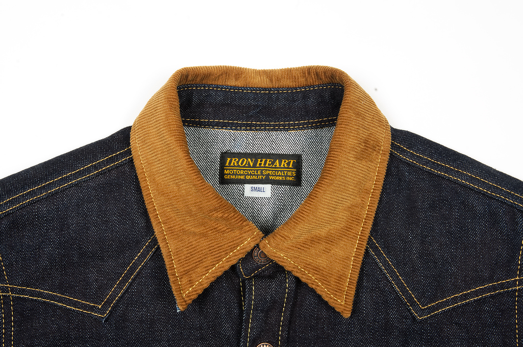 Iron Heart 14oz Selvedge CPO Shirt With Cord Collars - Image 4