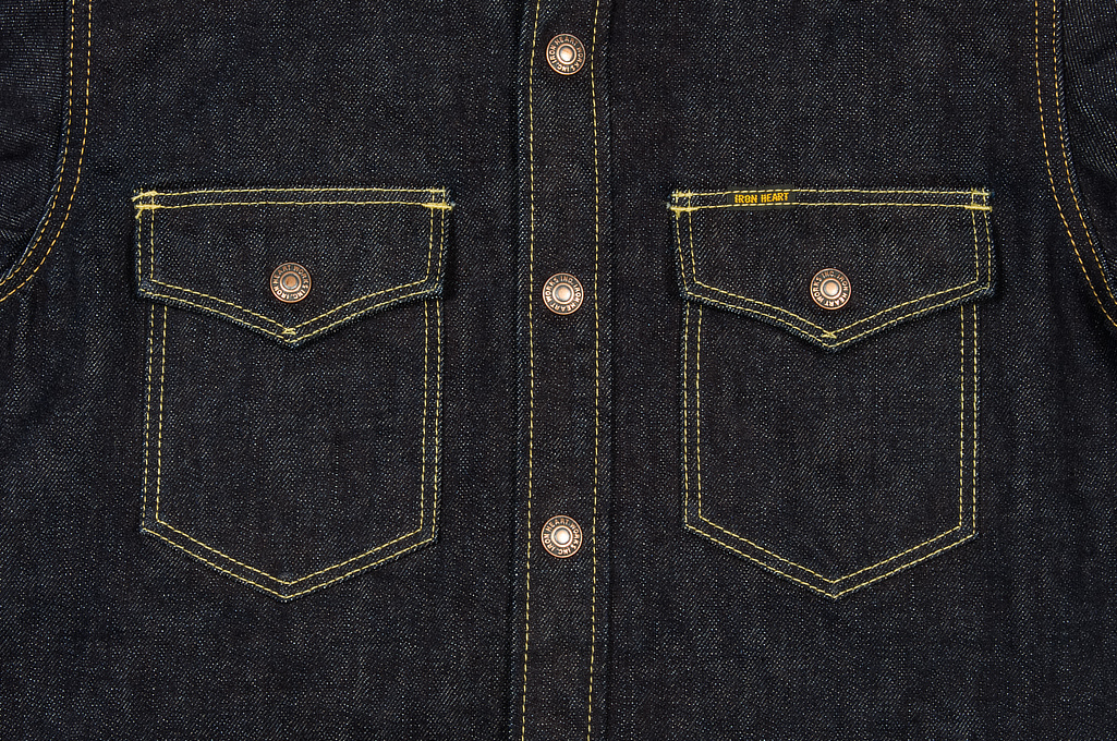 Iron Heart 14oz Selvedge CPO Shirt With Cord Collars - Image 5