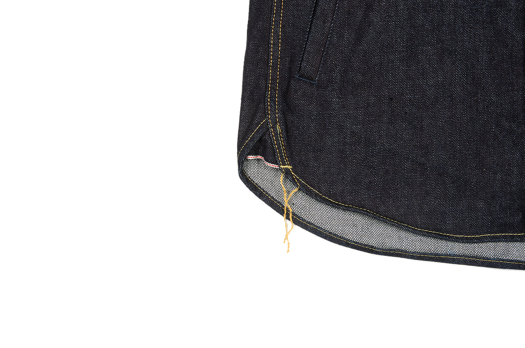 Iron Heart 14oz Selvedge CPO Shirt With Cord Collars - Image 8