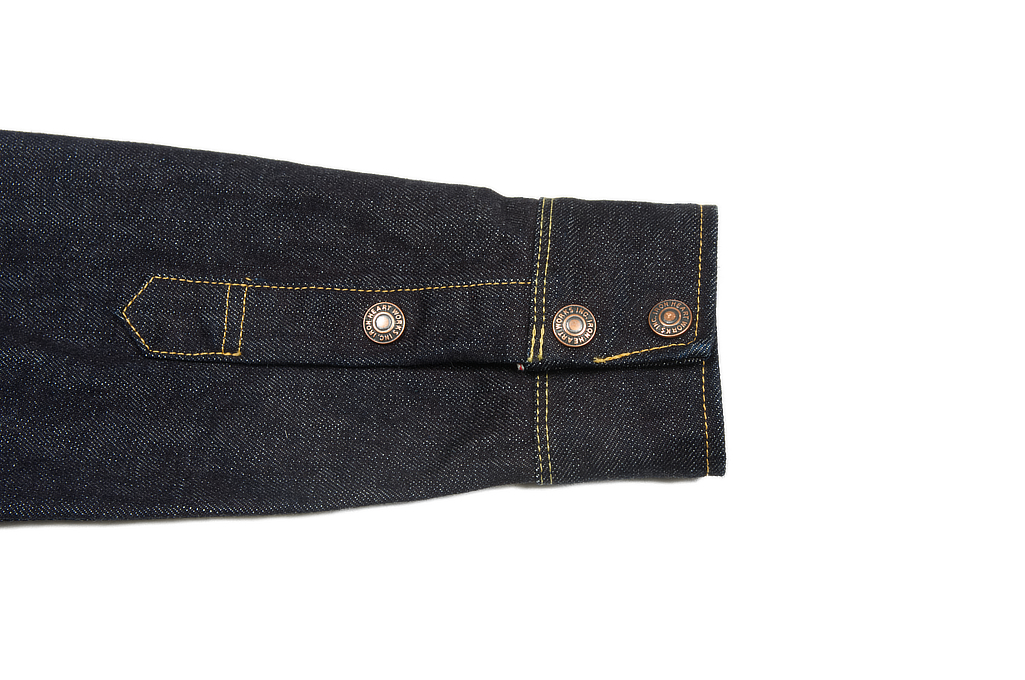 Iron Heart 14oz Selvedge CPO Shirt With Cord Collars - Image 10
