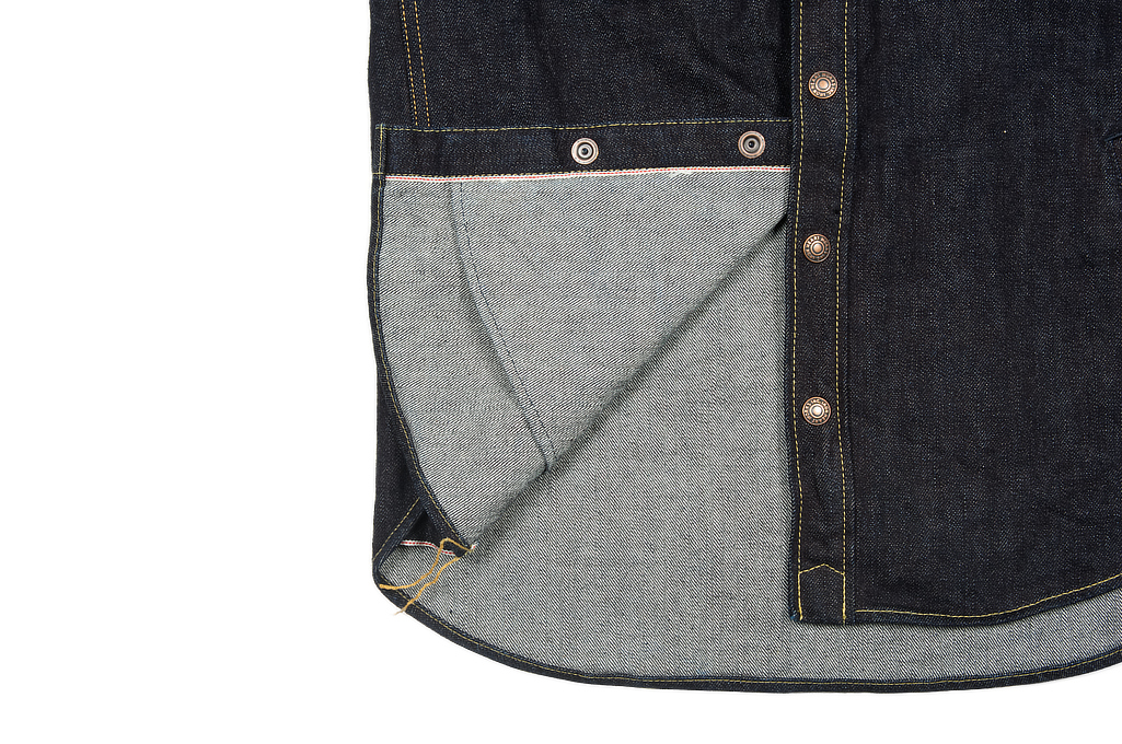 Iron Heart 14oz Selvedge CPO Shirt With Cord Collars - Image 11