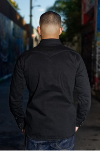 Iron Heart 12oz Denim Shirt - Superblack Snap - Image 1