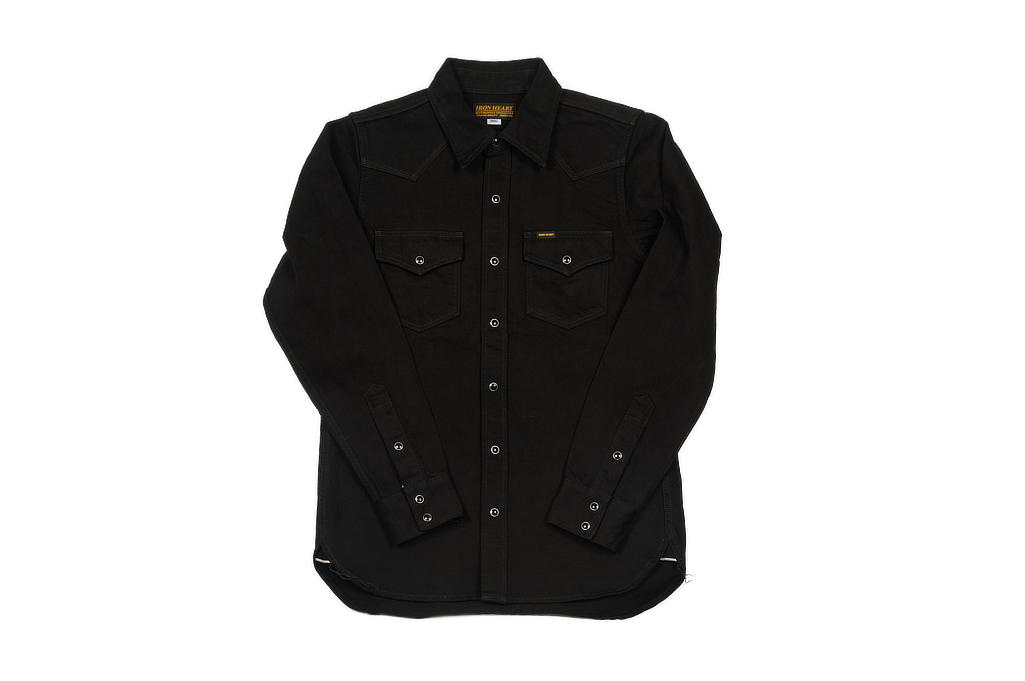 Iron Heart 12oz Denim Shirt - Superblack Snap - Image 2