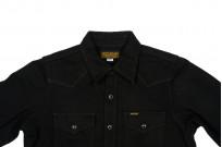 Iron Heart 12oz Denim Shirt - Superblack Snap - Image 3