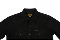 Iron Heart 12oz Denim Shirt - Superblack Snap - Image 3