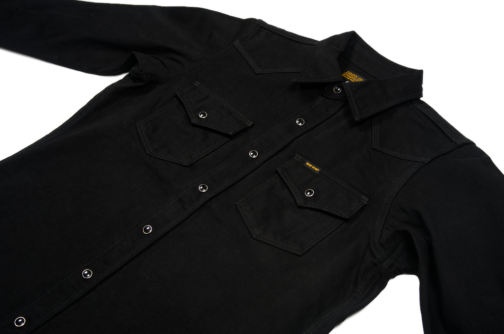 Iron Heart 12oz Denim Shirt - Superblack Snap - Image 5