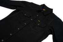 Iron Heart 12oz Denim Shirt - Superblack Snap - Image 5