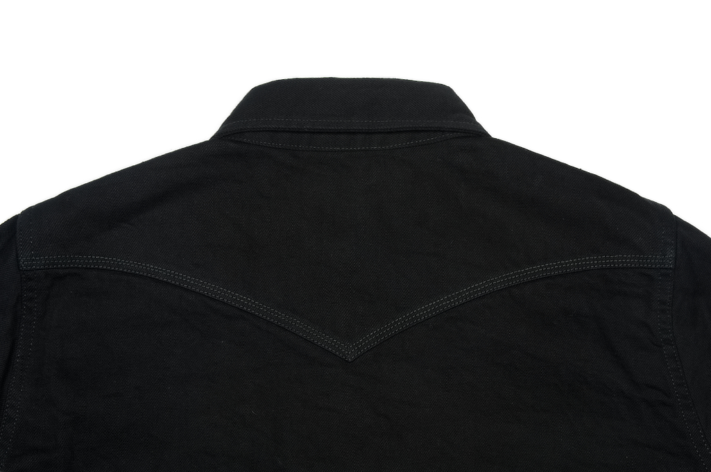 Iron Heart 12oz Denim Shirt - Superblack Snap - Image 7