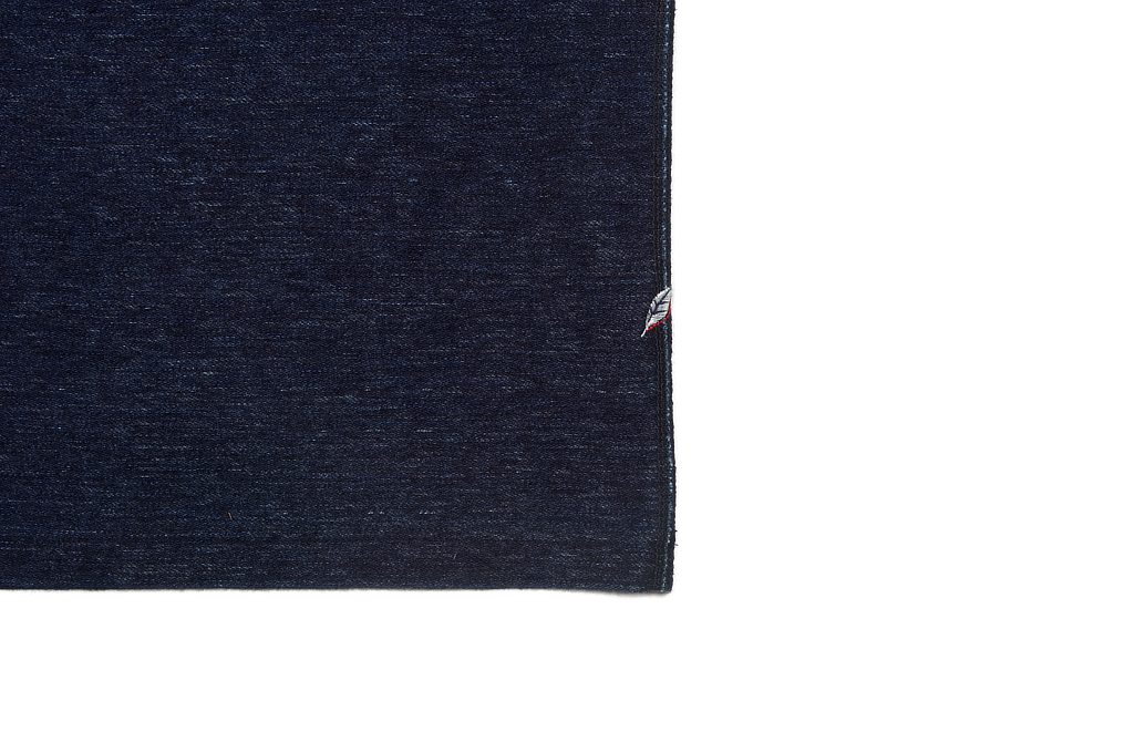 Pure Blue Japan Denimish Military Henley T-Shirt - Image 6