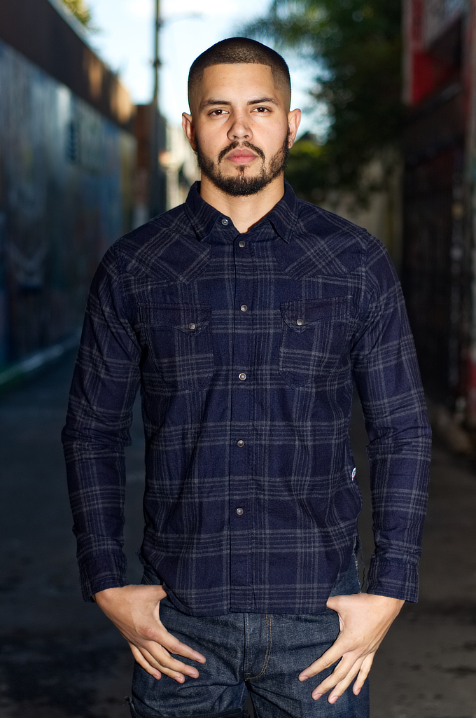 Pure Blue Japan Flannel Shirt - Indigo Check Snap - Image 0