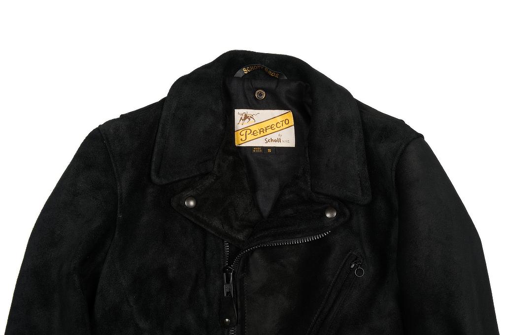 3sixteen x Schott Waxed Roughout Cowhide Jacket - Image 3