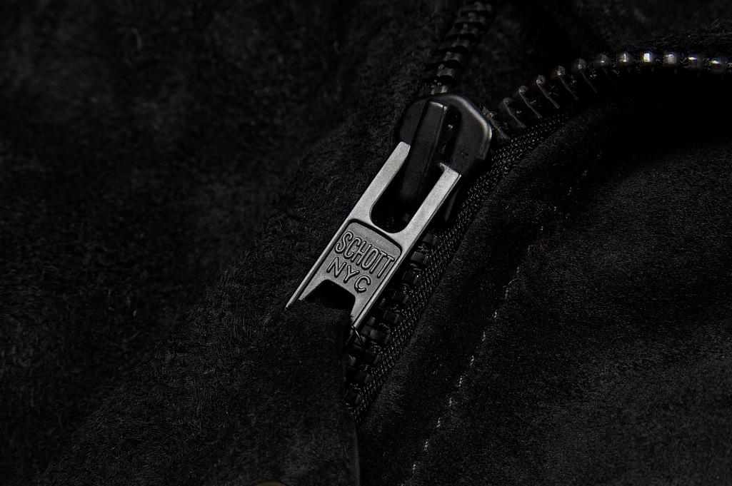 3sixteen x Schott Waxed Roughout Cowhide Jacket - Image 7