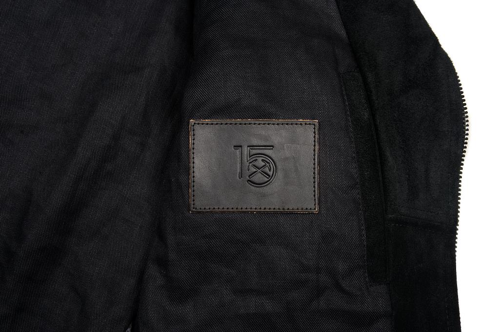 3sixteen x Schott Waxed Roughout Cowhide Jacket - Image 9