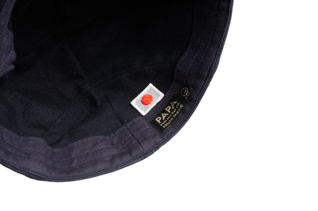 Papa Nui Bird Farm Cap - Wool Lined Navy - Image 3
