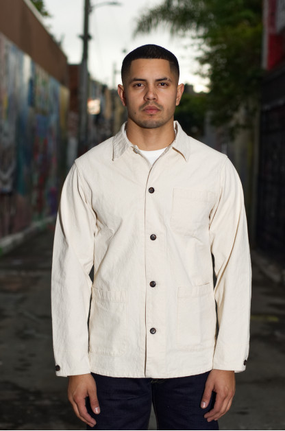 Seuvas No. 11 Canvas Coverall Jacket - Natural