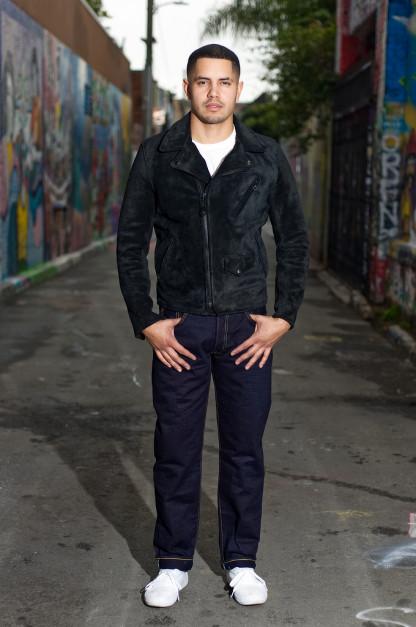 Strike Gold 5004 15.5oz Denim Jeans - Double Indigo Straight Tapered