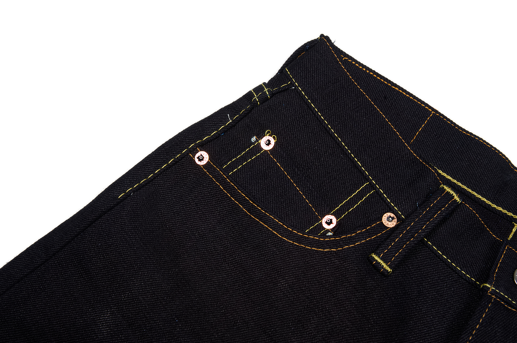 Strike Gold 5004 15.5oz Denim Jeans - Double Indigo Straight Tapered - Image 4