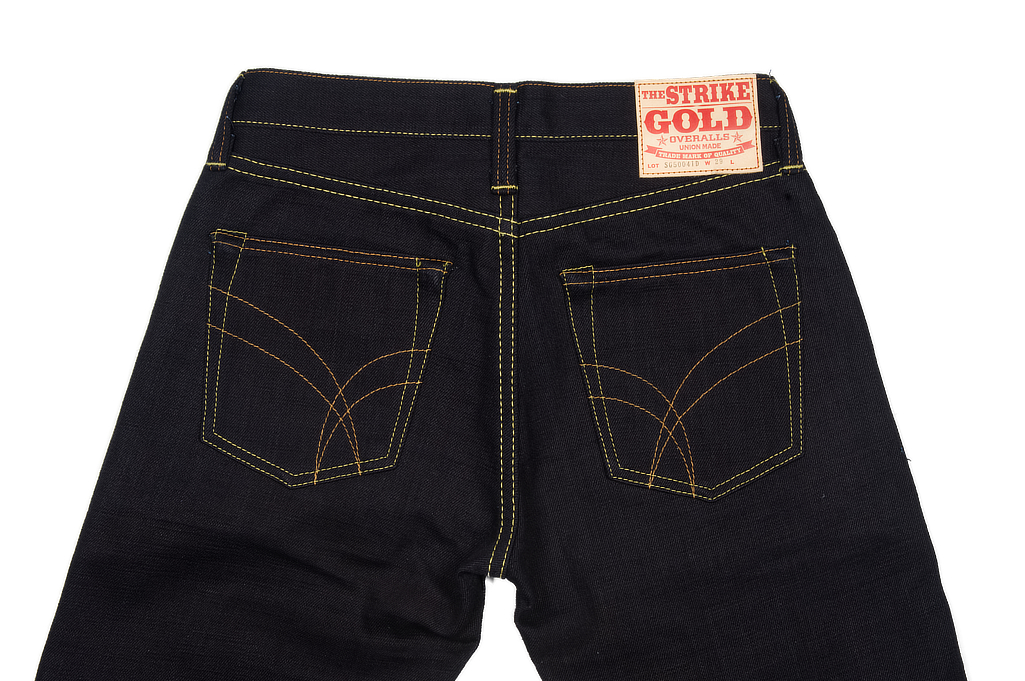 Strike Gold 5004 15.5oz Denim Jeans - Double Indigo Straight Tapered - Image 5