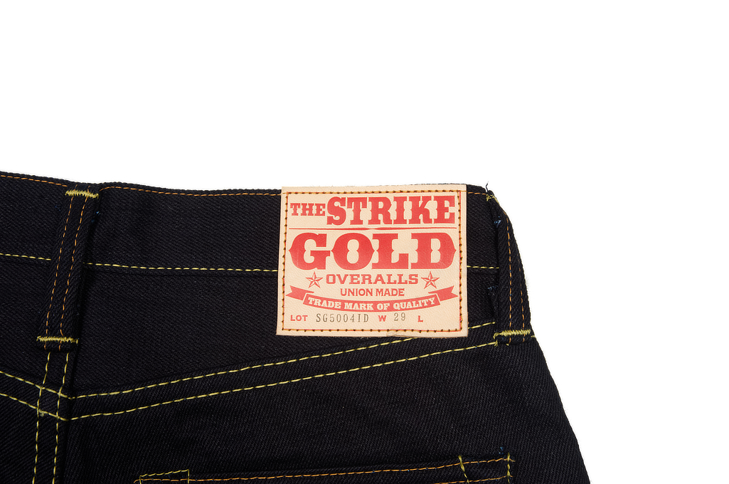 Strike Gold 5004 15.5oz Denim Jeans - Double Indigo Straight Tapered - Image 7
