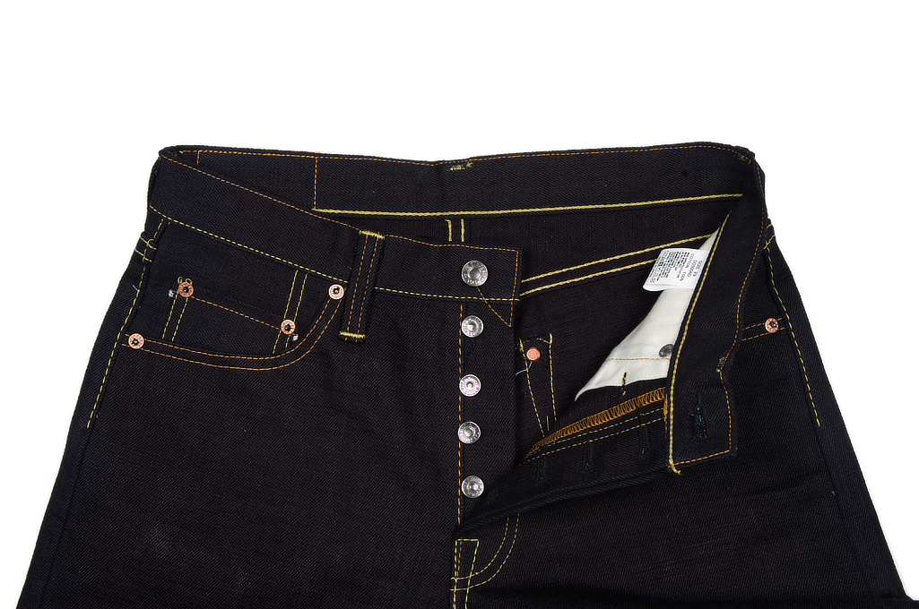 Strike Gold 5004 15.5oz Denim Jeans - Double Indigo Straight Tapered - Image 9