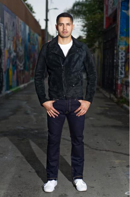Strike Gold 5009 15.5oz Denim Jeans - Double Indigo Slim Tapered