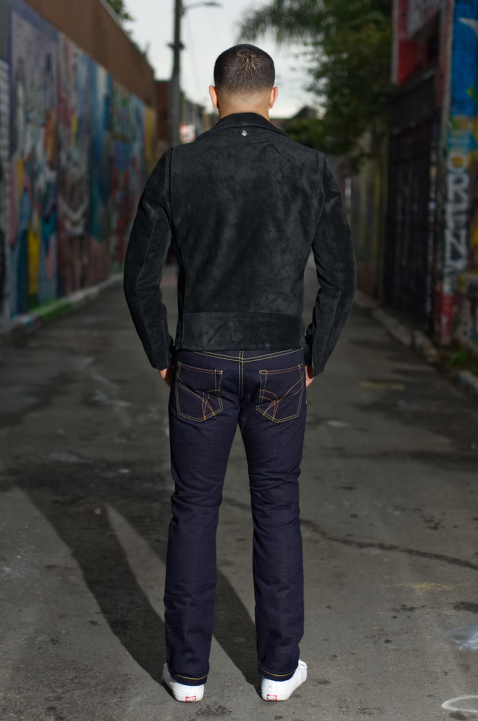 Strike Gold 5009 15.5oz Denim Jeans - Double Indigo Slim Tapered - Image 1