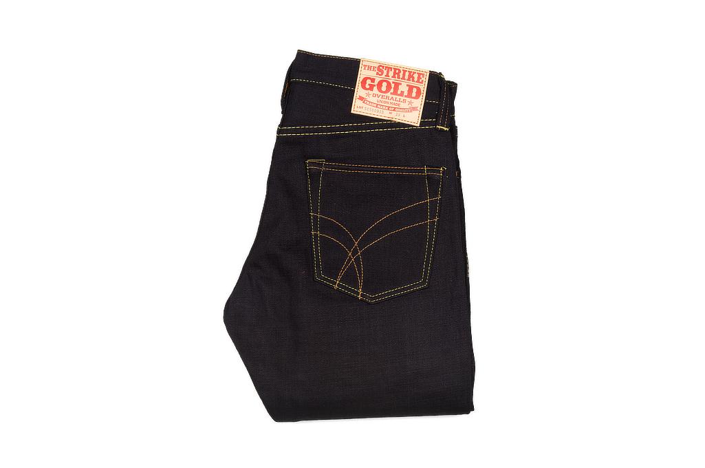 Strike Gold 5009 15.5oz Denim Jeans - Double Indigo Slim Tapered - Image 2