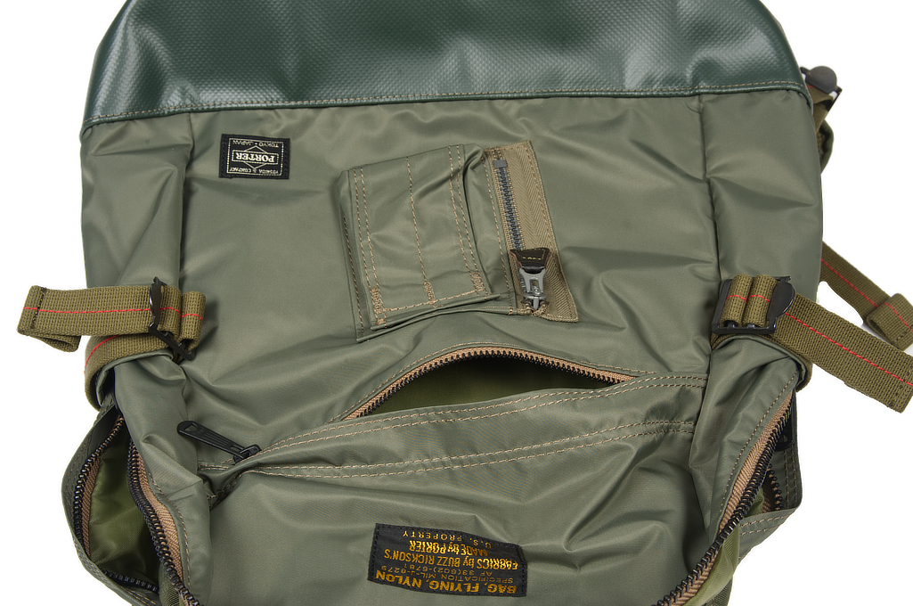 Buzz Rickson x Porter Backpack - Sage Green - Image 8