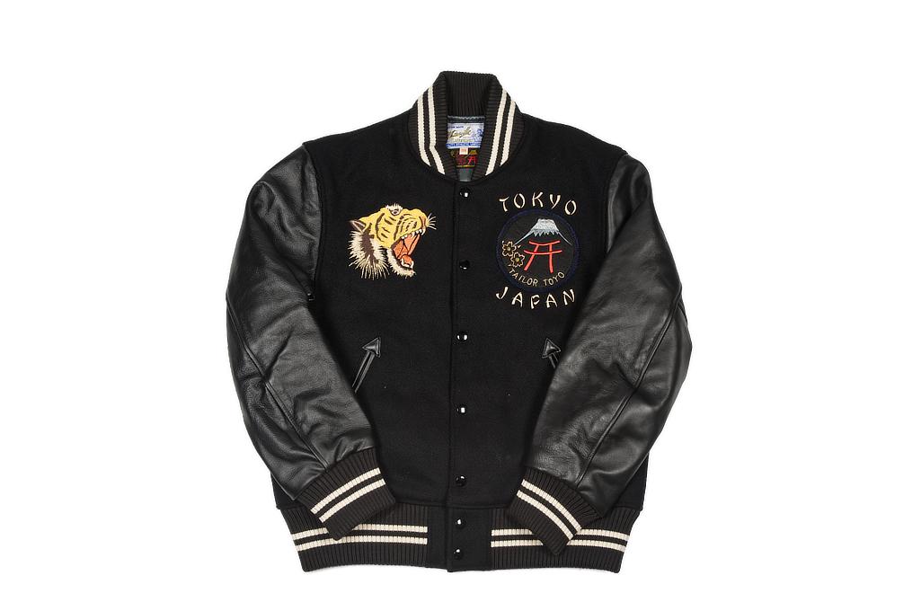 Whitesville x Tailor Toyo Leather & Wool Souvenir/Varsity Jacket - Image 2