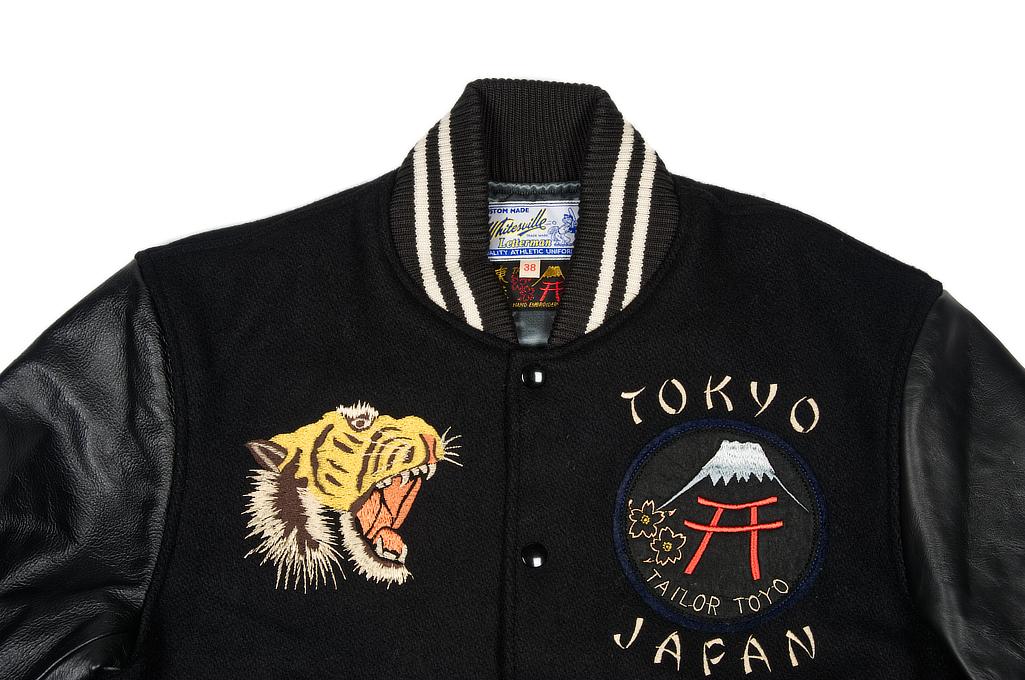 Whitesville x Tailor Toyo Leather & Wool Souvenir/Varsity Jacket - Image 3
