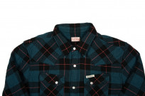 Flat Head Animal Face Winter Flannel - Blue/Green/Red Snap - Image 3