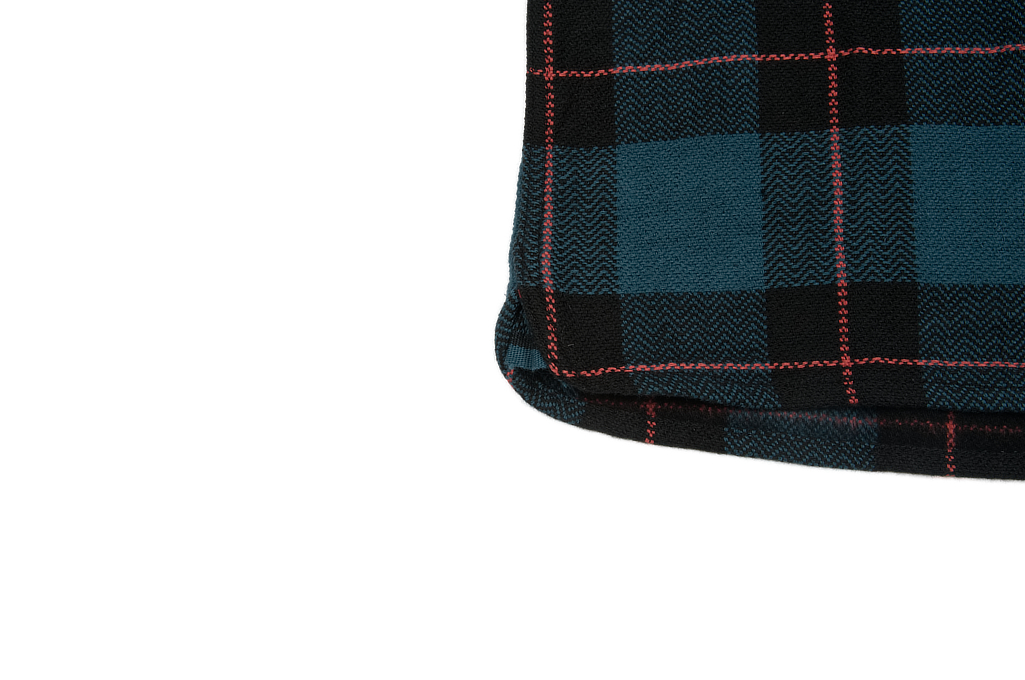 Flat Head Animal Face Winter Flannel - Blue/Green/Red Snap - Image 7