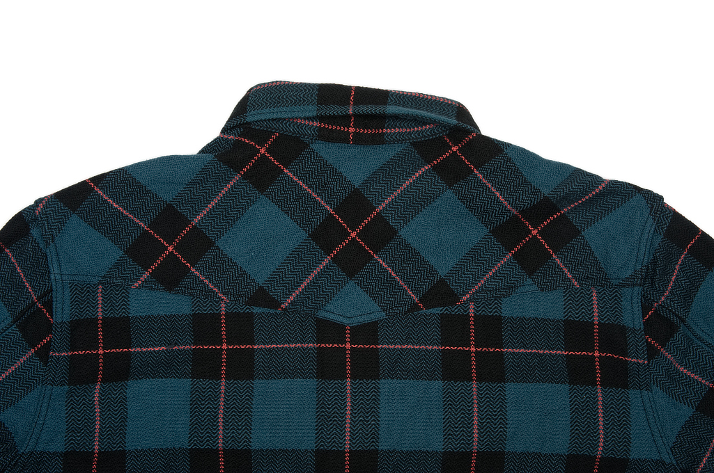 Flat Head Animal Face Winter Flannel - Blue/Green/Red Snap - Image 10