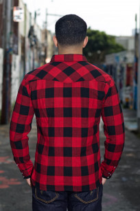 Flat Head Animal Face Winter Flannel - Black/Red Snap - Image 1